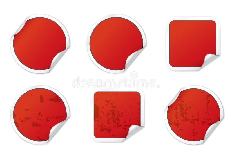 czerwoni majchery ilustracja wektor