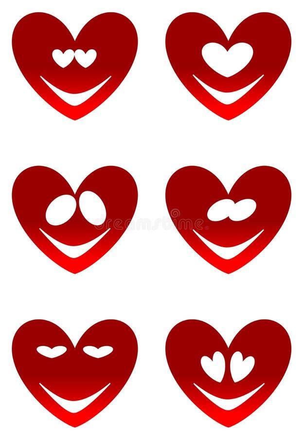 Czerwoni miłość uśmiechy zdjęcie stock
