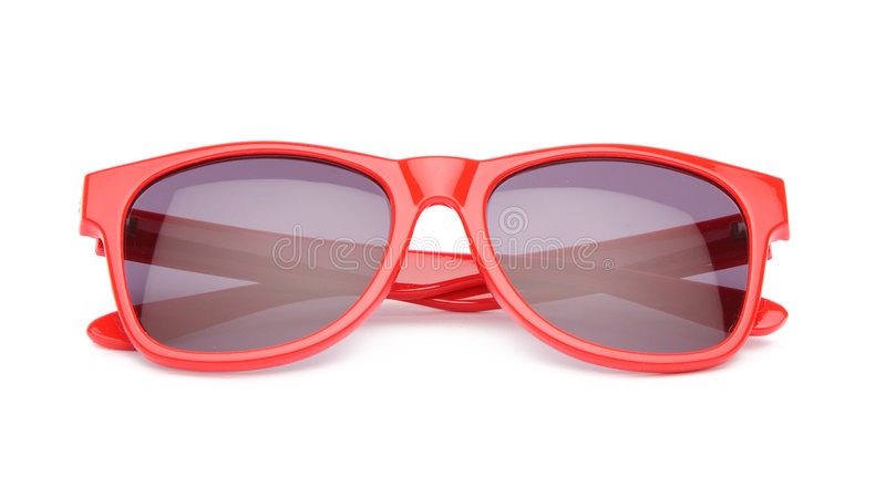 czerwoni okulary przeciwsłoneczne fotografia royalty free