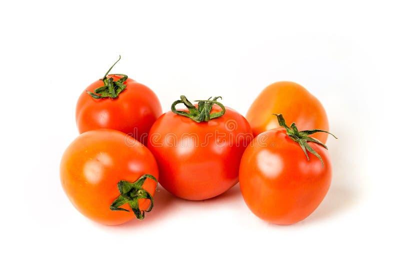 Czerwoni organicznie świezi pomidory zdjęcia stock
