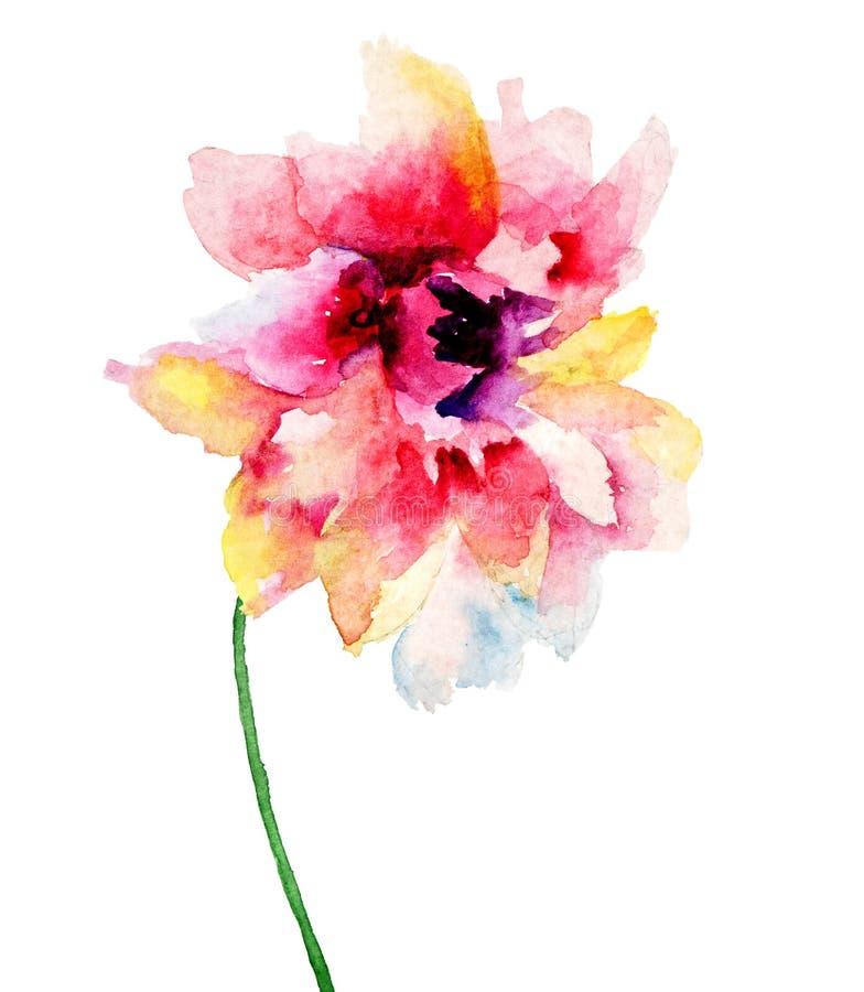czerwoni piękni kwiaty ilustracji