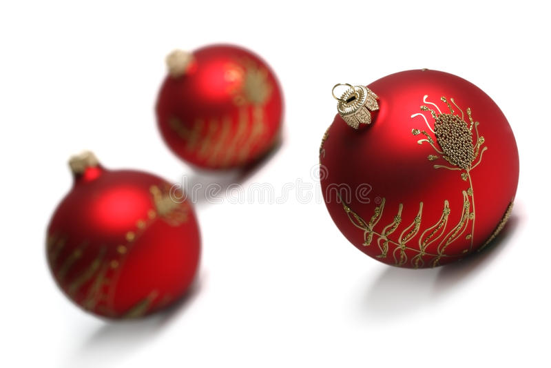czerwoni piłek boże narodzenia zdjęcia stock