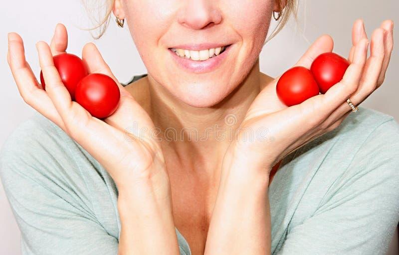 Czerwoni pomidory gotowi jedzącymi zdjęcie royalty free