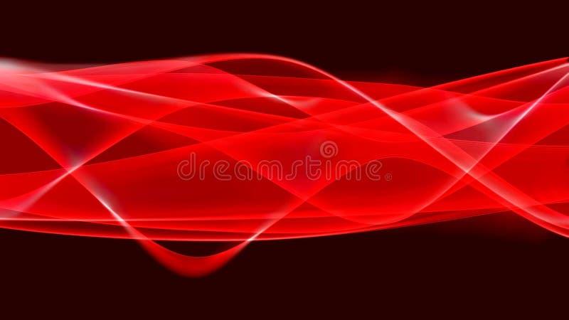 Czerwoni promienie i fala ilustracja wektor