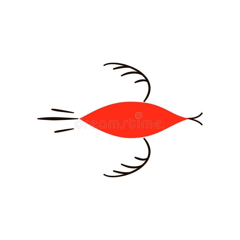 Czerwoni ptaki Krajowi północni obrazy Ludowi rękodzieła Czarowni oryginałów ornamenty prostota Czerwona płaska kaczka, gąska royalty ilustracja