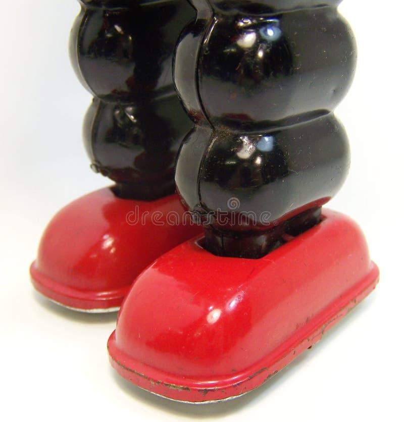 Czerwoni robotów cieki fotografia royalty free