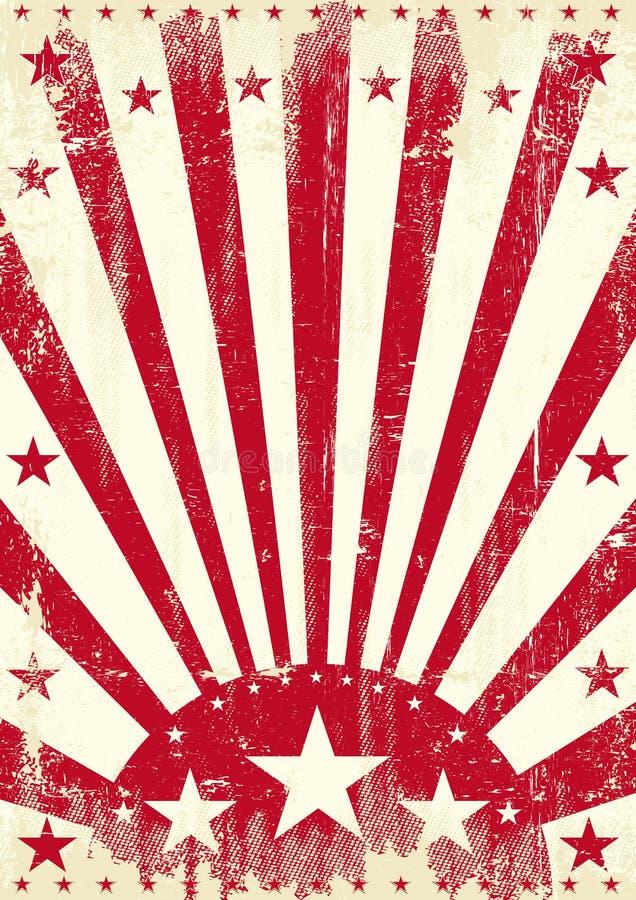 Czerwoni roczników sunbeams royalty ilustracja