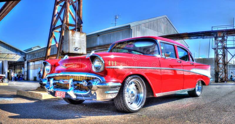 Czerwoni 1950's Chevy zdjęcia royalty free
