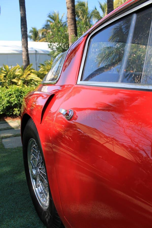 Czerwoni 1950s Ferrari 250 mm drzwiowy szczegół 01 zdjęcie royalty free