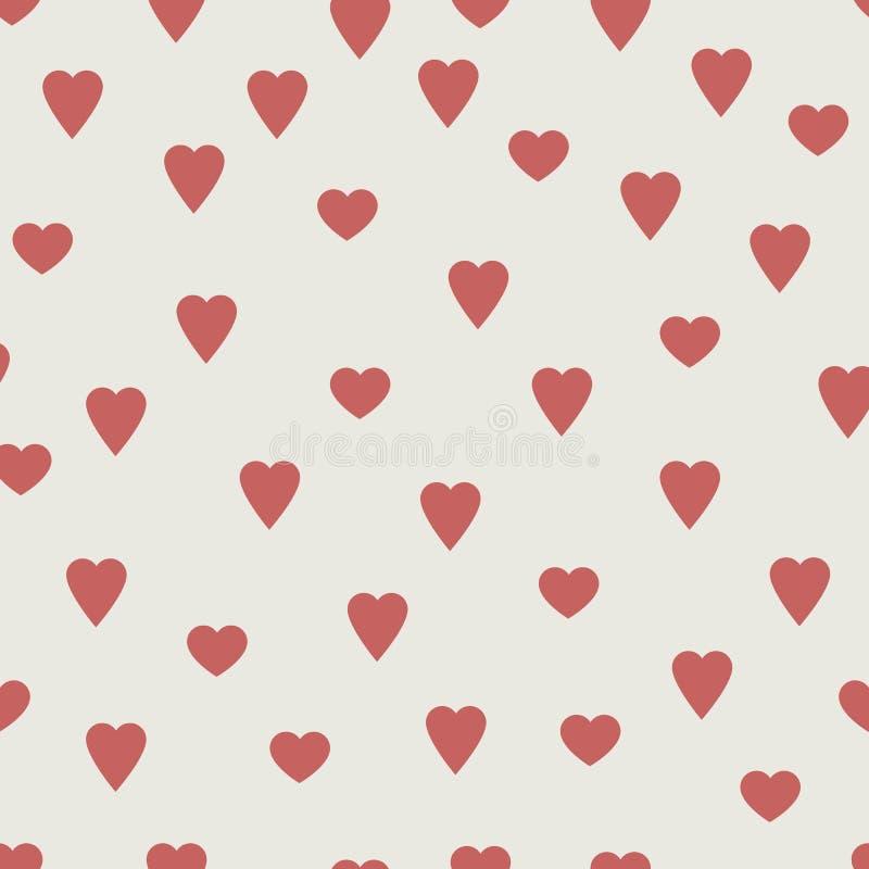 Download Czerwoni Serca, Bezszwowy Wektoru Wzór Ilustracja Wektor - Ilustracja złożonej z miłość, styl: 42525772