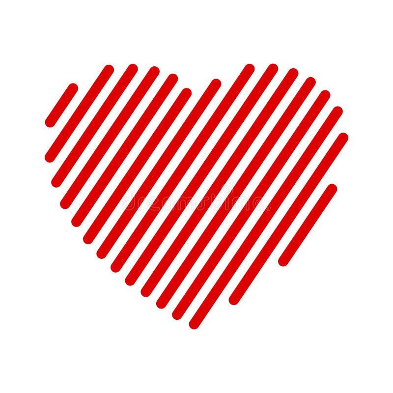 Czerwoni serce lampasy - ilustracja wektor