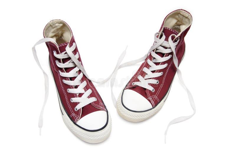 czerwoni sneakers zdjęcie royalty free