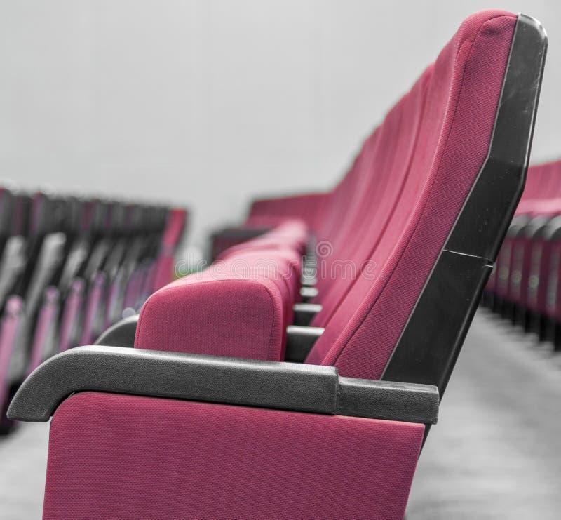 Czerwoni teatrów krzesła w ow obrazy royalty free