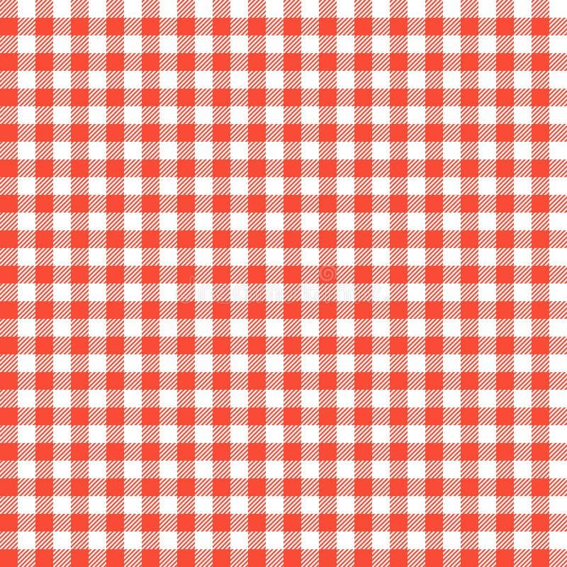 Czerwoni w kratkę tablecloths wzory royalty ilustracja