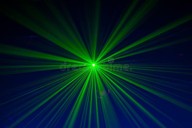 czerwoni zieleni światło laseru fotografia stock
