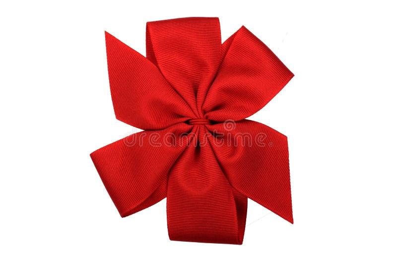 Czerwony łęk Odizolowywający na bielu obrazy royalty free