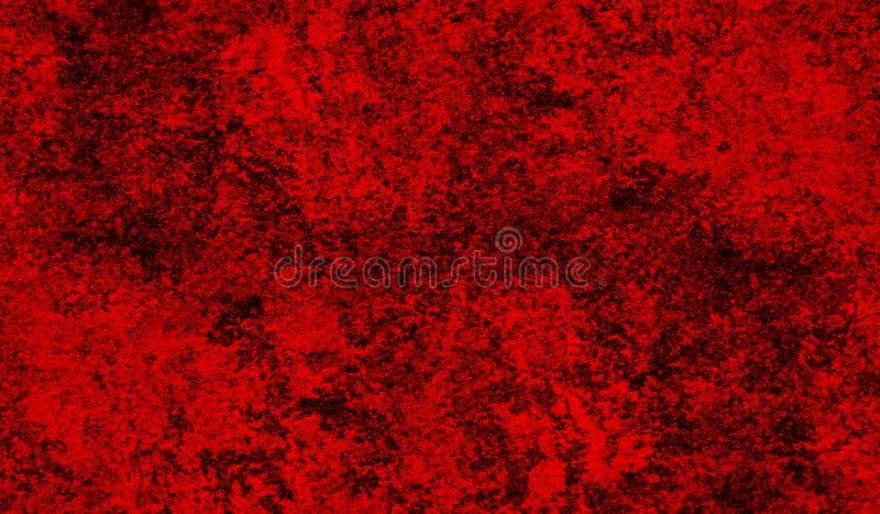 Czerwony łupanie i obieranie malujemy na starej ścianie t?o szczeg Grunge t?o ilustracja wektor