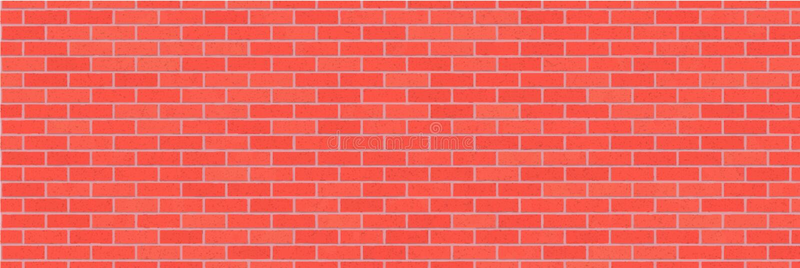 Czerwony ściana z cegieł abstrakta tło Tekstura cegły Dekoracyjny kamień Wektorowa szeroka ilustracja ilustracja wektor