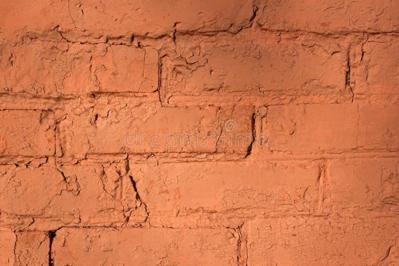 Czerwony ściana z cegieł dla tła lub tekstury zdjęcie stock