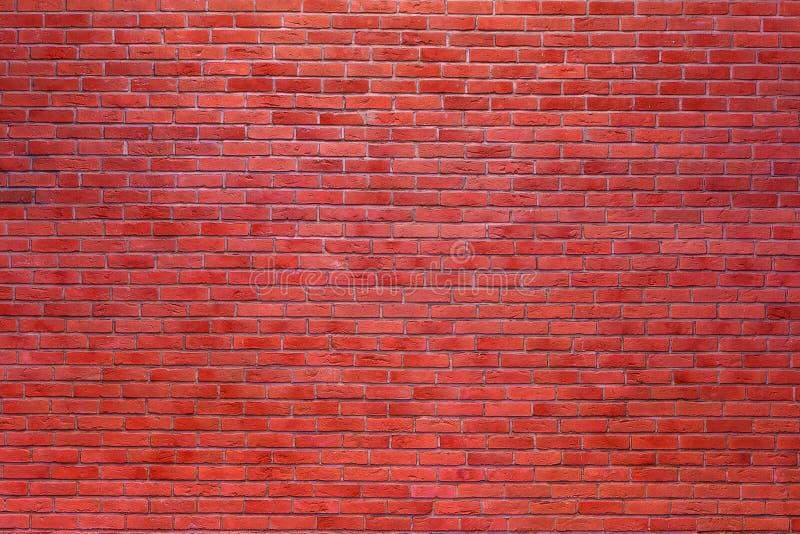 Czerwony ściana z cegieł tło fotografia royalty free