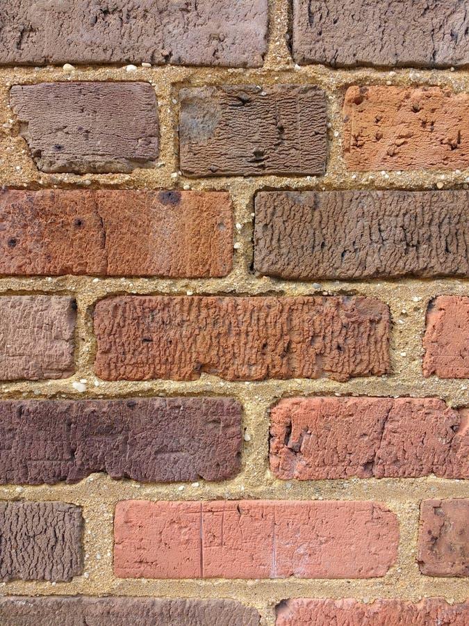 Czerwony ściana z cegieł tło, Textured kamieniarstwa tło, cegły i moździerz, obrazy stock