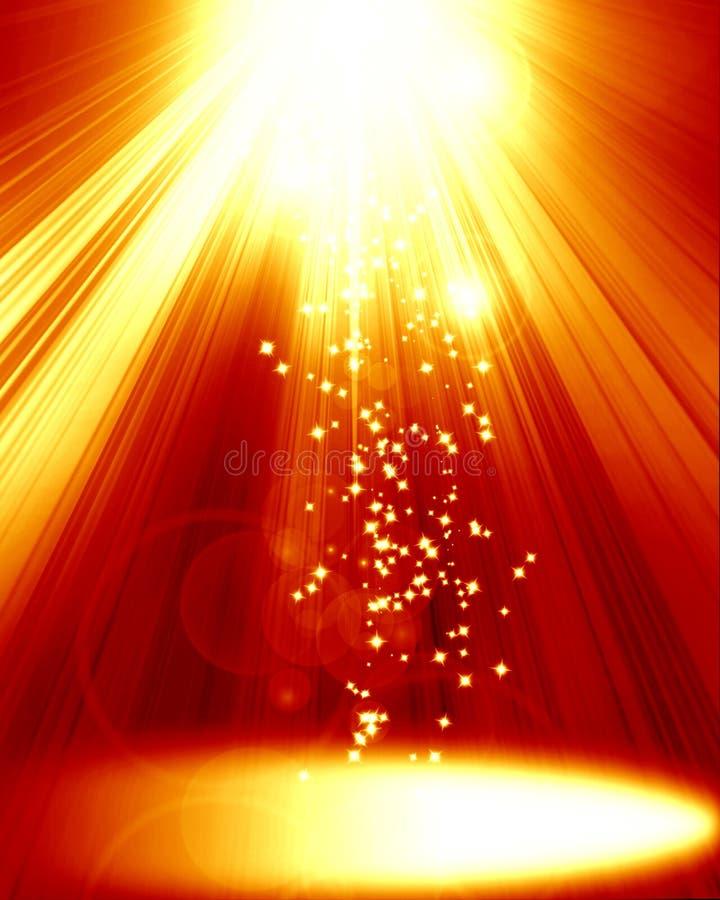 Czerwony światło reflektorów royalty ilustracja