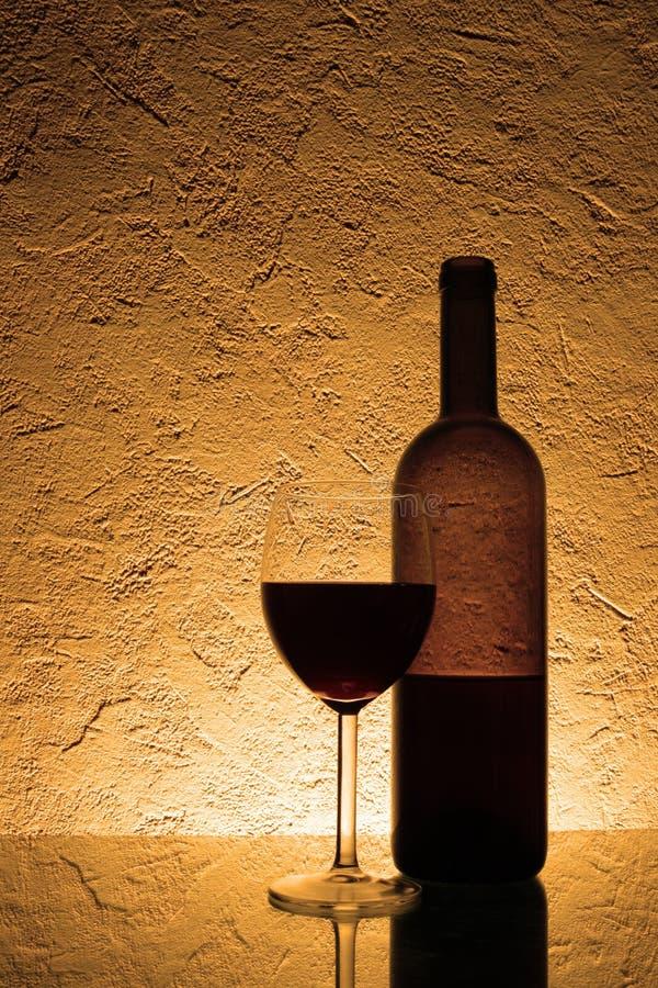 czerwony życia cicho wino zdjęcia stock