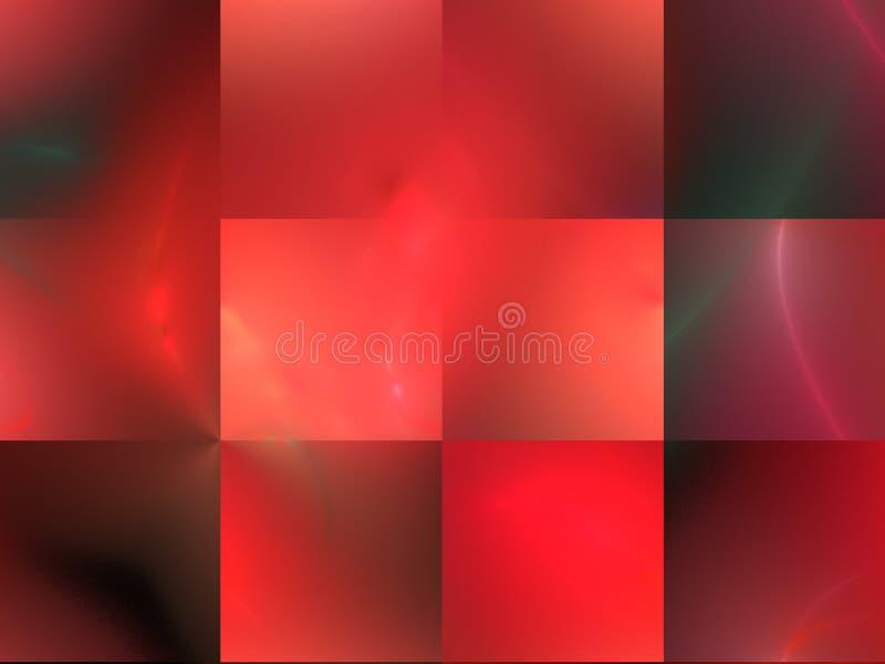 Czerwony abstrakcjonistyczny fractal w klatce fotografia stock