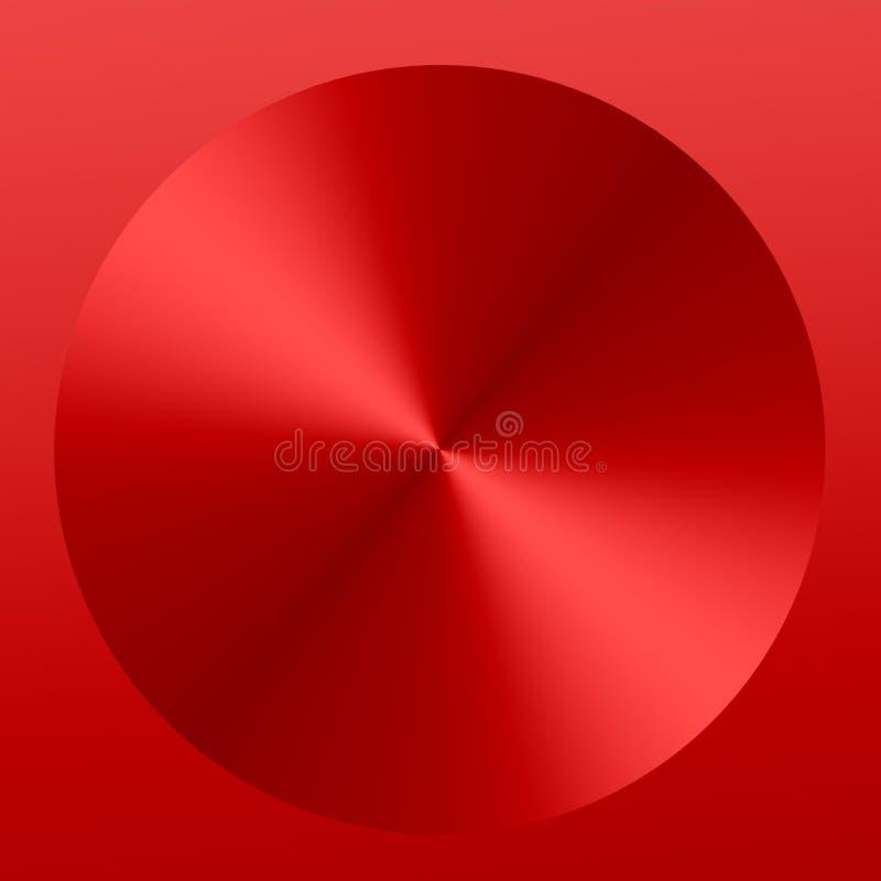 Czerwony Abstrakcjonistyczny Kruszcowy guzik - tło royalty ilustracja
