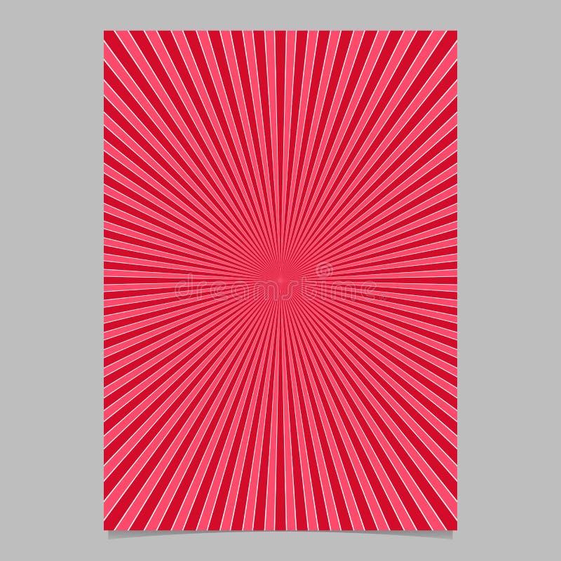 Czerwony abstrakcjonistyczny retro wybuch strony szablon - wektorowa broszurki tła grafika royalty ilustracja