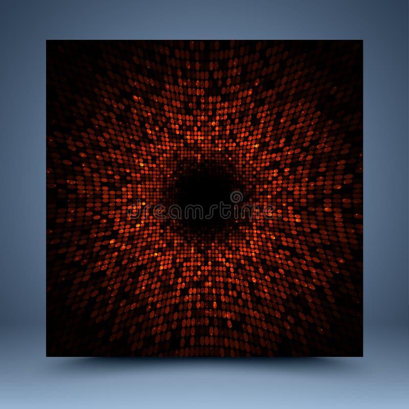 Czerwony abstrakcjonistyczny szablon ilustracji