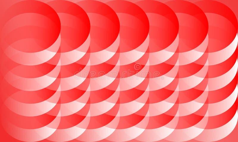 Czerwony Abstrakcjonistyczny tła 3D szablon desing royalty ilustracja