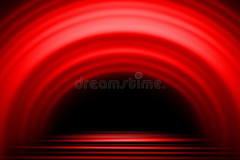 Czerwony Abstrakcjonistyczny t?o, lekki ruch plamy t?o ilustracji