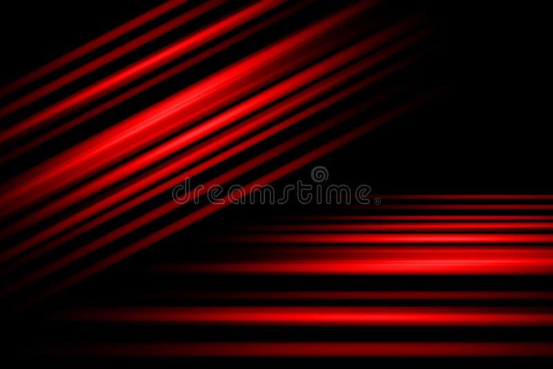 Czerwony Abstrakcjonistyczny t?o, ruch plamy t?o ilustracji
