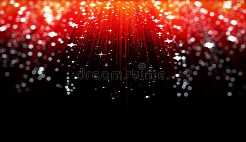 Czerwony abstrakcjonistyczny tło z gwiazdami ilustracja wektor