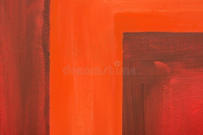 Czerwony abstrakt Malująca kanwa fotografia royalty free