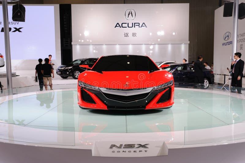 Czerwony Acura NSX Pojęcia przód zdjęcia stock
