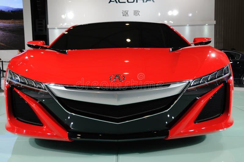 Czerwony Acura NSX pojęcia przód obraz stock