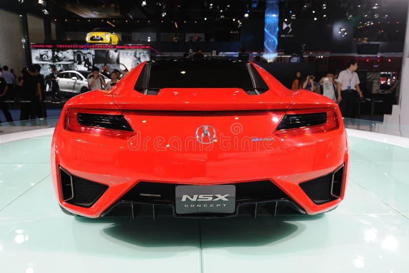 Czerwony Acura NSX Pojęcia tyły zdjęcia stock