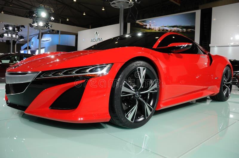 Czerwony Acura NSX pojęcie fotografia royalty free