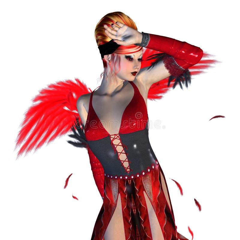 Czerwony anioł ilustracja wektor
