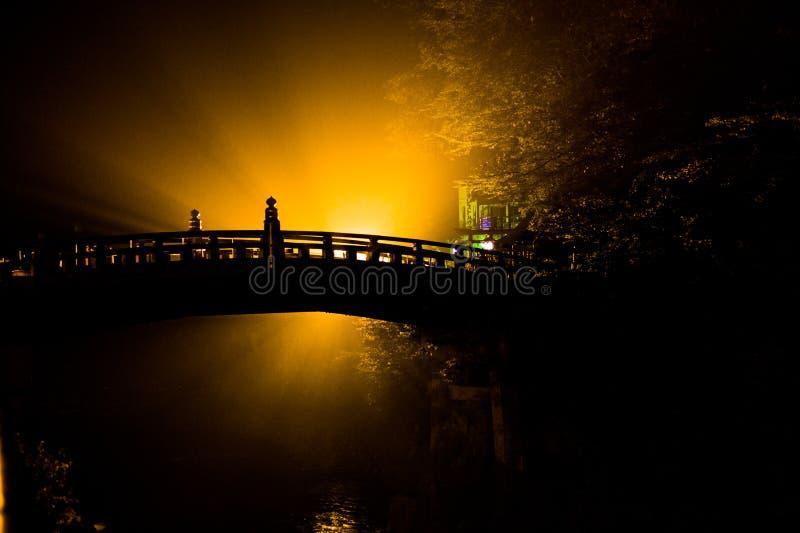 Czerwony Antyczny most, Nikko Japonia zdjęcie stock
