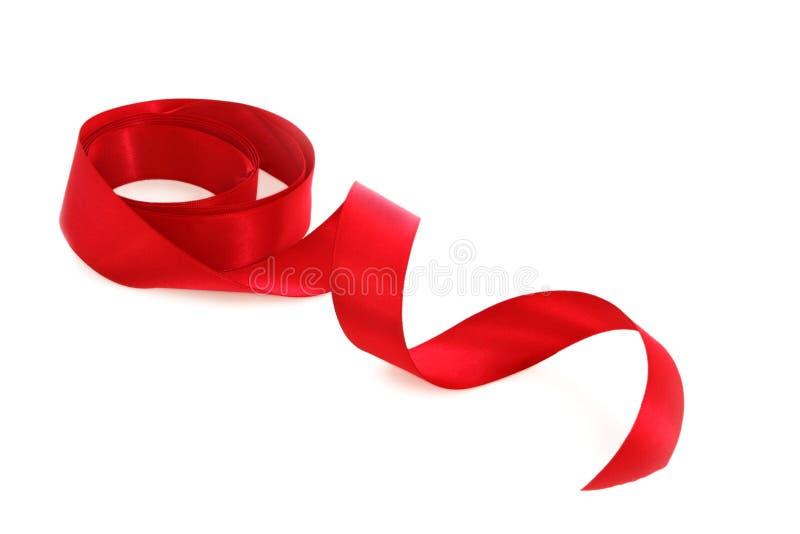 czerwony atłas tasiemkowy obraz royalty free