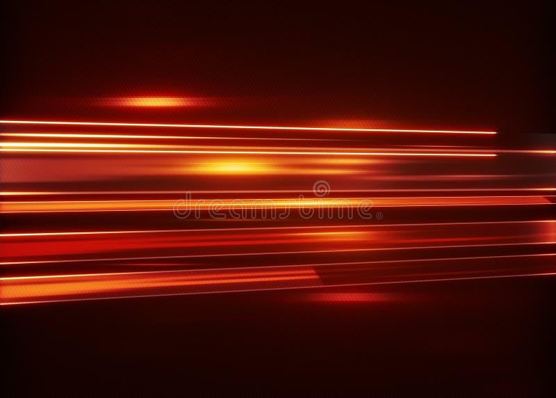 Czerwony błyśnie lampasa techno abstrakcjonistyczny tło ilustracja wektor