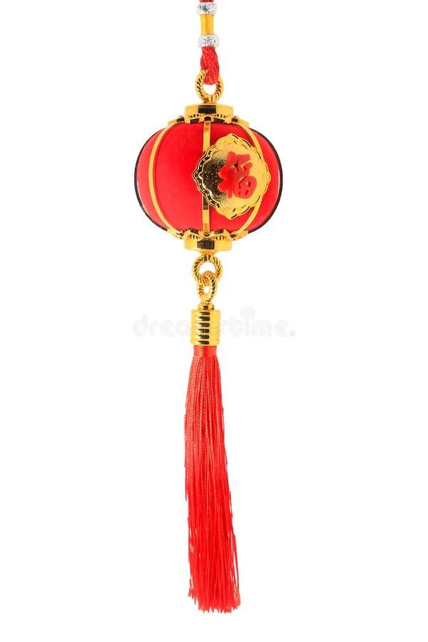 Czerwony bańczasty kształta lampion dla Chińskiej nowy rok dekoraci odizolowywającej na bielu zdjęcie stock