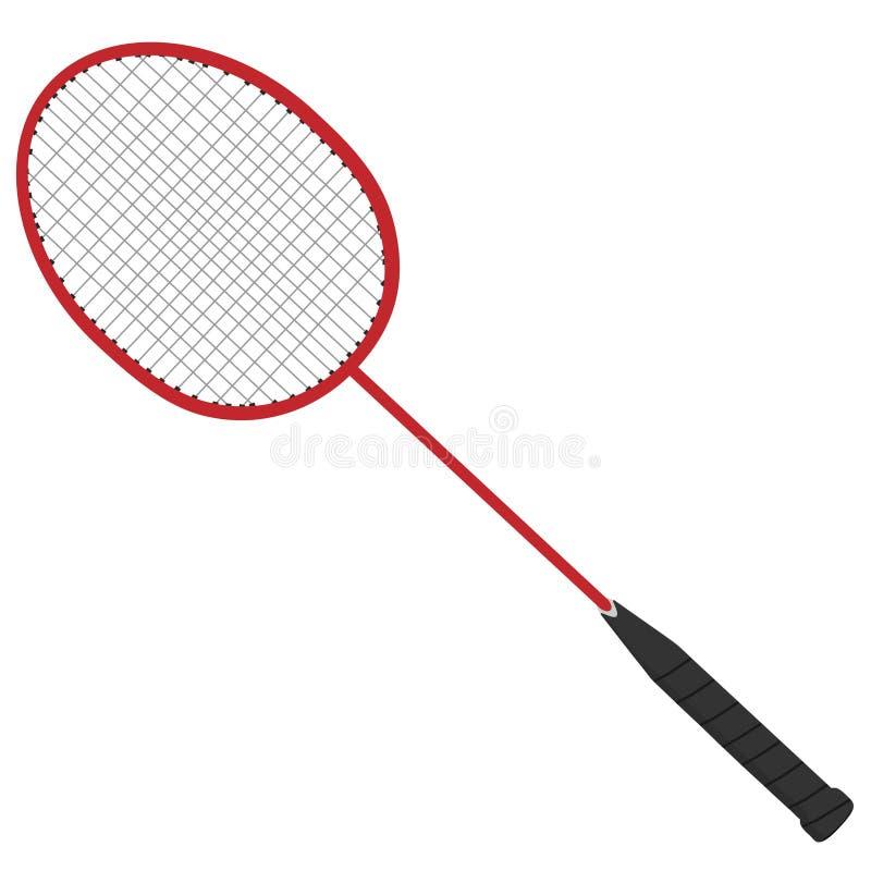 Czerwony badminton kant royalty ilustracja