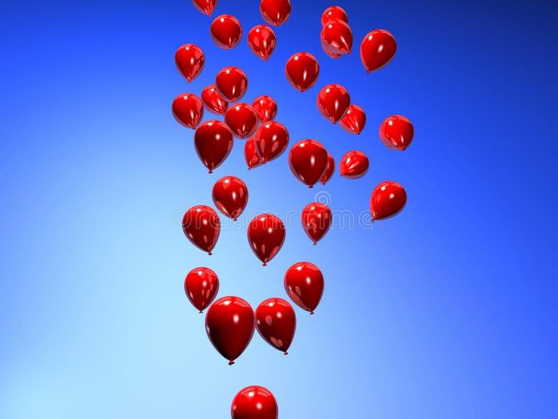 czerwony balonowa ilustracja wektor
