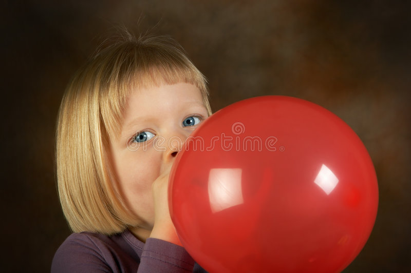 czerwony balonowa obraz royalty free