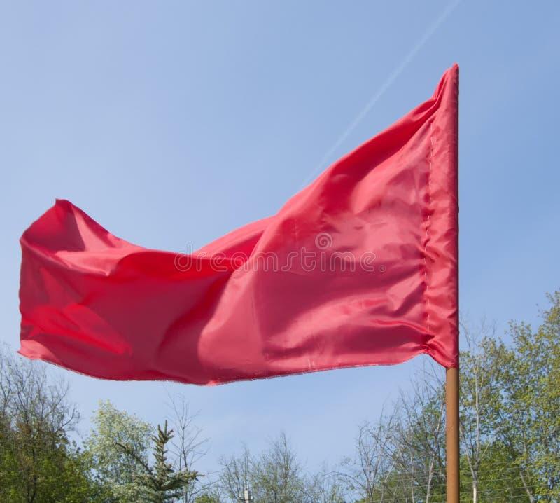 czerwony bandery zdjęcie stock