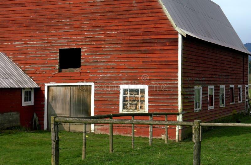 czerwony barn fotografia royalty free